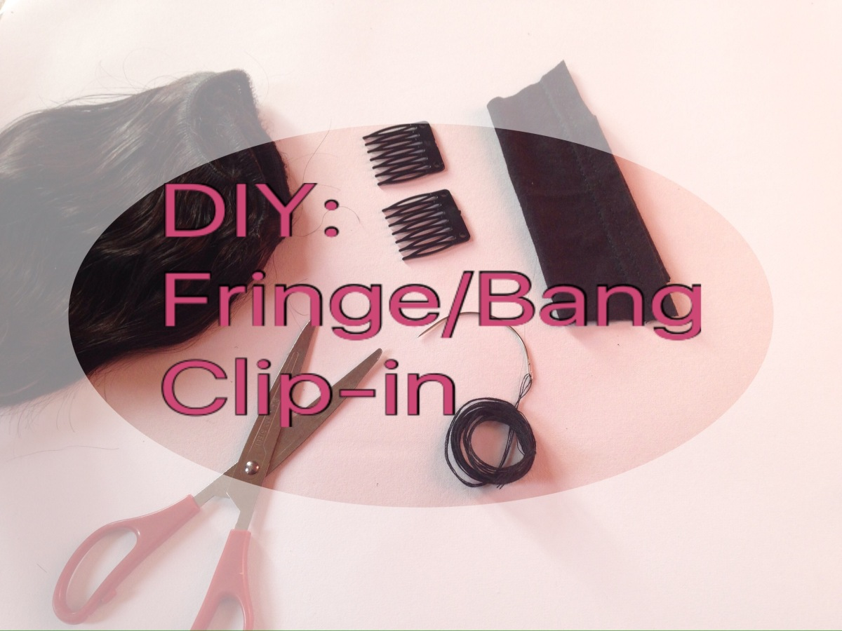 DIY: Fringe/ Bangs Clip-in