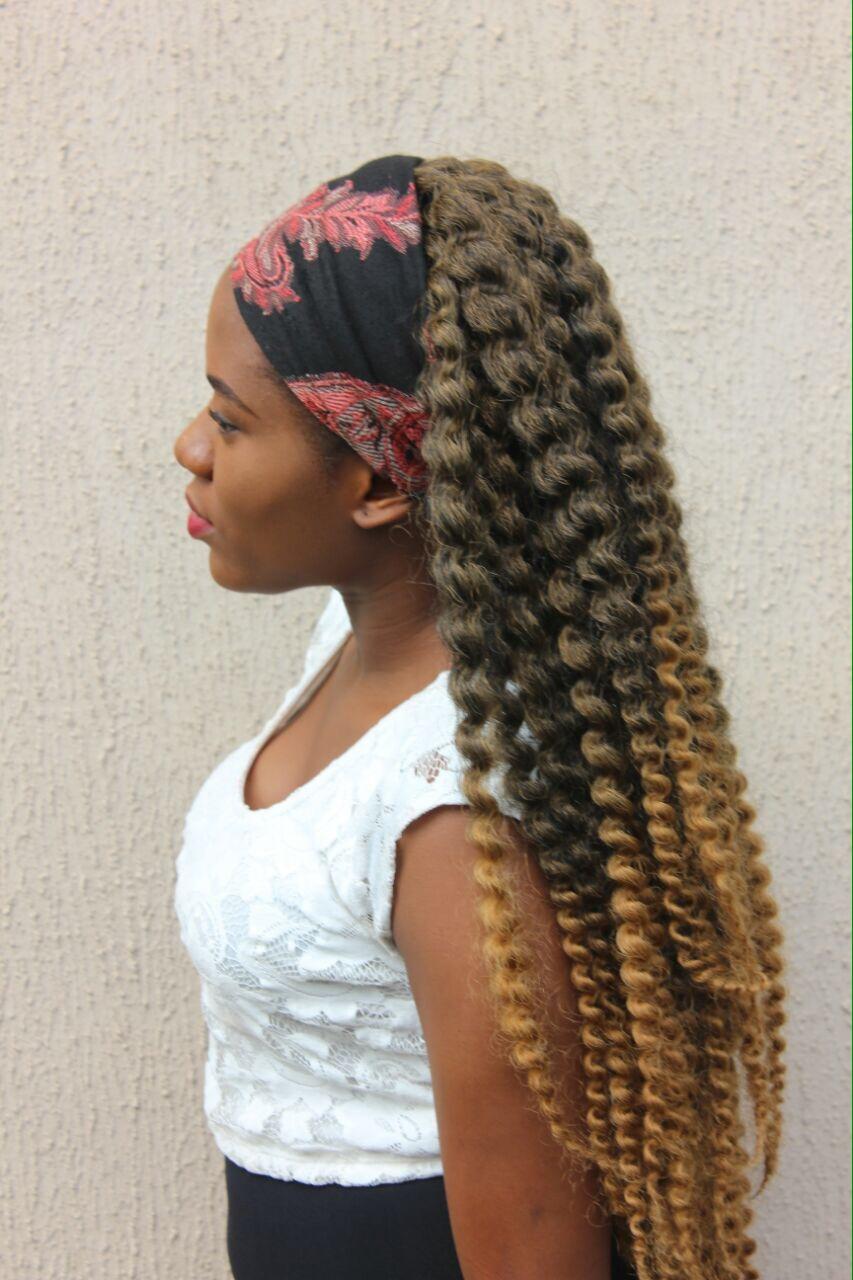 accessorizing crochet hair