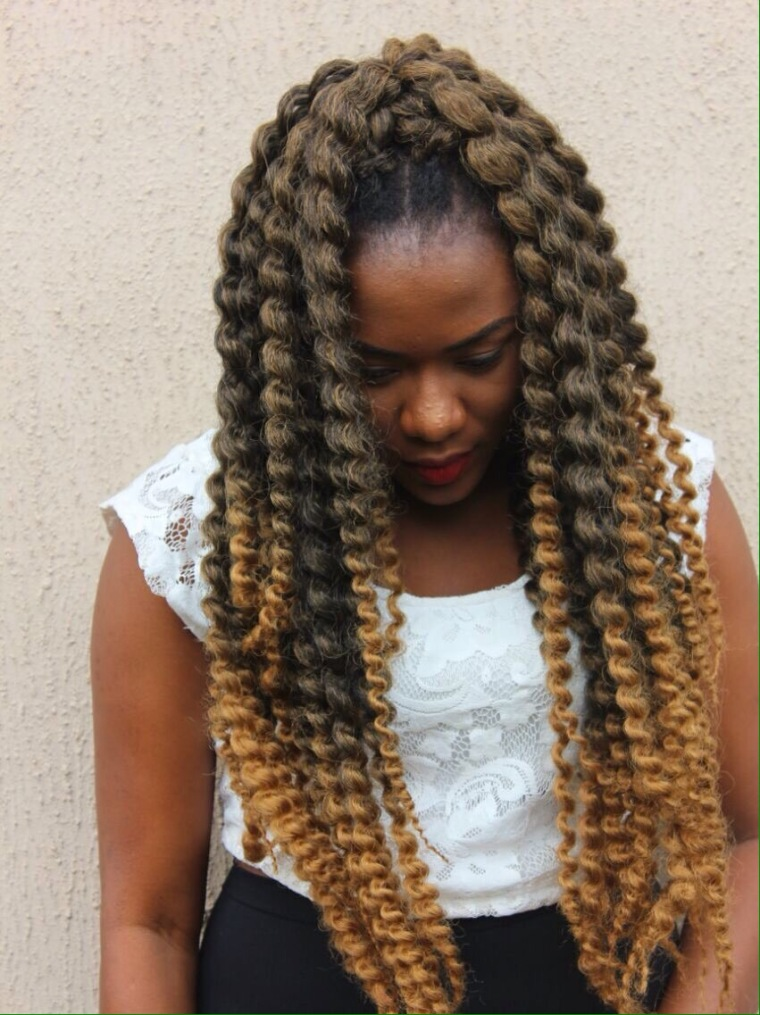 crochet hair styling