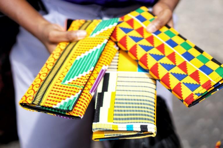 Kente Material in Makola Market Accra