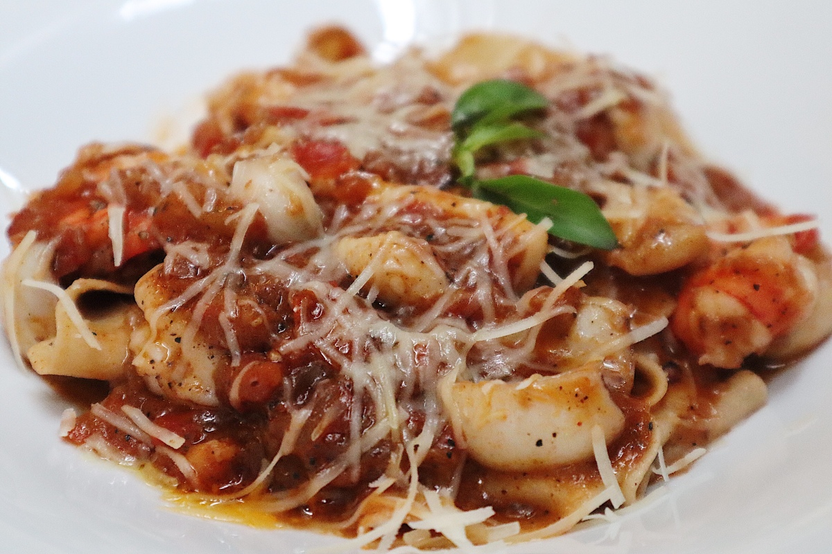 RSVP seafood pappardelle