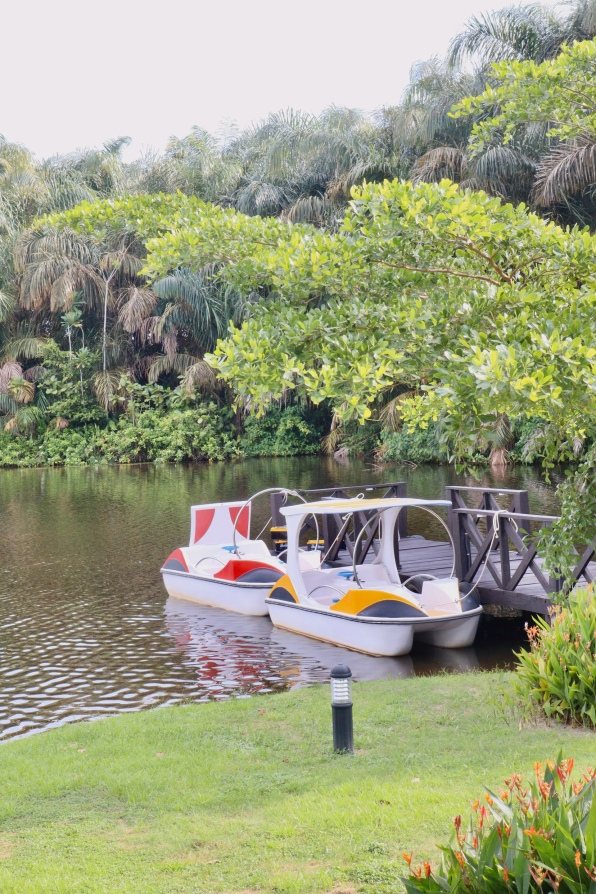 Paddle boat at Lakowe Lakes Golf and Country Estate